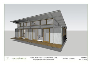 2 e.pod Cabin - Highlight Pitched Roof