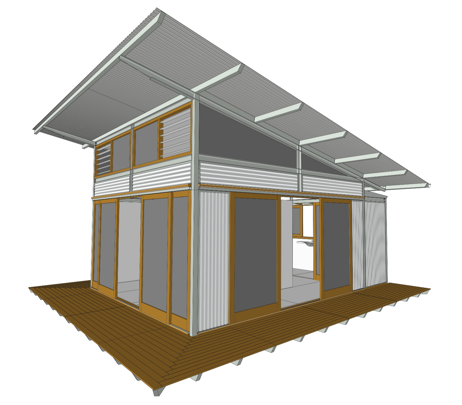 Designs ecoshelta for Single pitch roof design